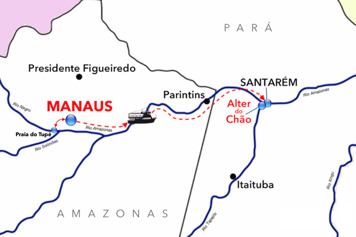 MAPPA ROTTA RIO AMAZONAS - breve