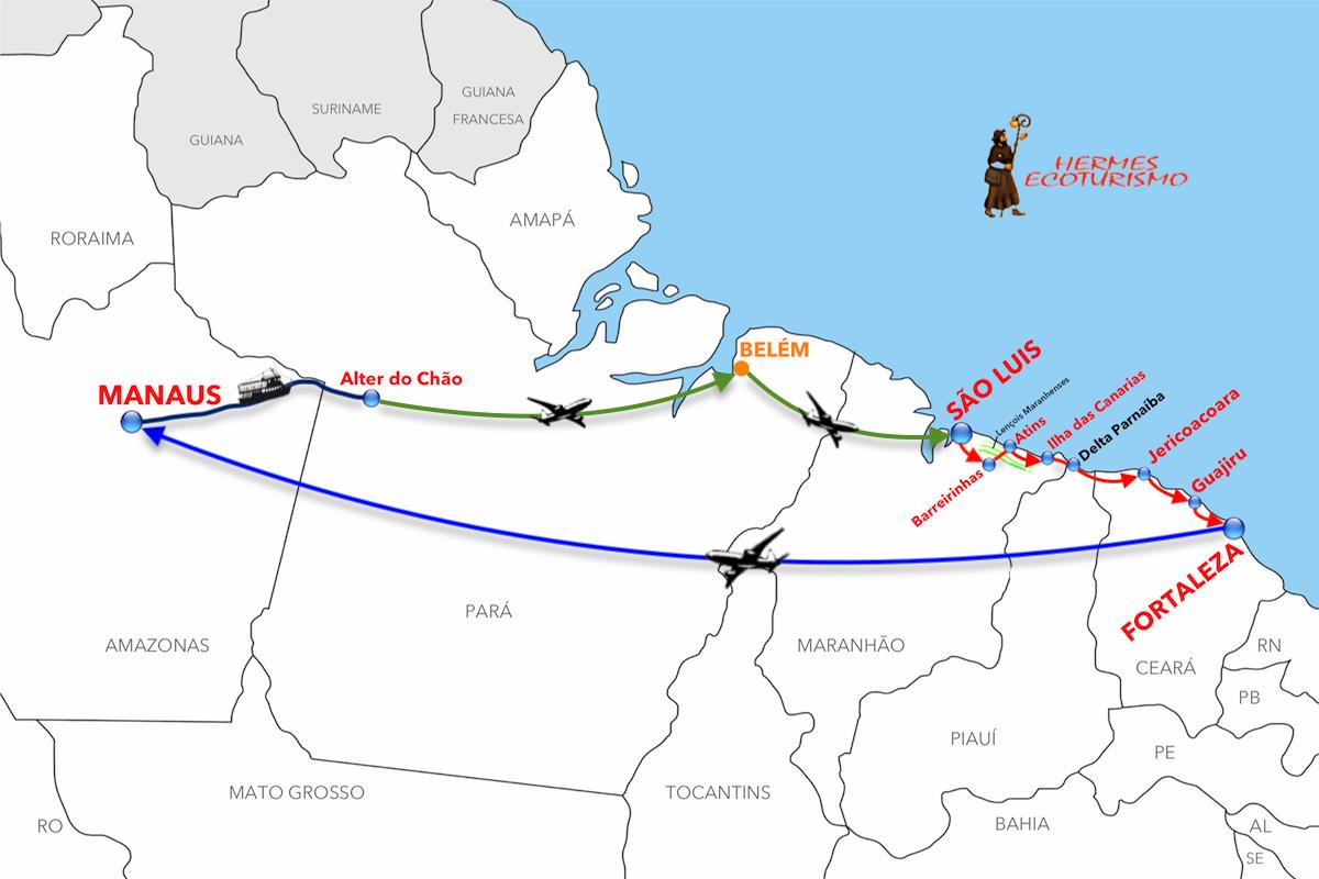 MAPPA AMAZZONIA E ROTTA EMOZIONI