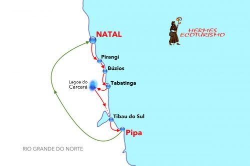 MAPPA NATAL LITORALE SUD