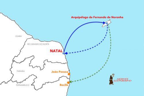 MAPPA FERNANDO DE NORONHA