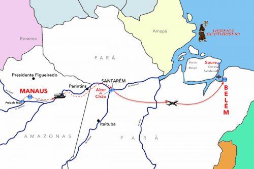 MAPPA ROTTA RIO AMAZONAS - completa