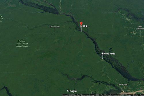 mapa Tour Rio Negro