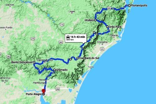 mappa Rotta Serra e Gelo